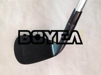 Wholesale wedge set 54 58 - BOYEA Golf Clubs SM6 BlACK Wedges Golf Wedge Set Golf Clubs 50 52 54 56 58 60 Steel Shaft Assemble DHL Free Shipping