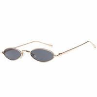 zayıflama bardakları toptan satış-Erkekler Kadınlar Için güneş gözlüğü Lüks Erkek Sunglass Moda Sunglases Retro Güneş Gözlükleri Bayanlar Güneş Gözlüğü Küçük Ince Tasarımcı Güneş Gözlüğü 6K2D53
