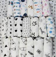 muselina aden anais al por mayor-120 * 120 cm Aden Anais Swaddles mantas de bebé de muselina Ins Toallas de baño Mantas envuelve algodón recién nacido Swadding mantas de bebé de muselina KKA4210