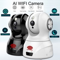 Wholesale wireless ip auto camera online - Smart AI WIFI PTZ FHD IP Cloud Camera with Alexa Voice Control Auto Smart Tracking Face Detection Sound Detection for Motion Alarm Alert