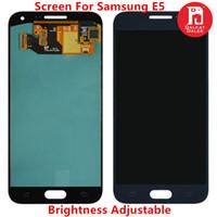 toque samsung e5 al por mayor-Reemplazo de pantalla LCD para Samsung Galaxy E5 E500 E500F Pantalla TFT Conjunto de digitalizador táctil Pantalla para E500M E500H Ajuste de brillo