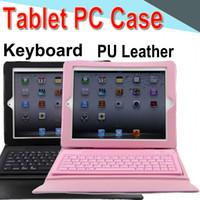 пыль таблетки оптовых-Клавиатура Tablet Case PU кожа 10 дюймов Беспроводной Bluetooth флип чехол стенд крышка водонепроницаемый противоударный анти-пыль для iPad 5 / Air 50 Packs