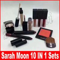 Wholesale lipstick pens wholesale - SARAH MOON makeup persistent cosmetic sets 10 in 1 makeup big box blush concealer lipstick lip pen brush