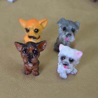 muñecas tang al por mayor-12 Mini Dog Doll Lovely Simulation Resin Home Mix Style Artes de la historieta y Artesanía Decoración de Muebles 0 9lw X