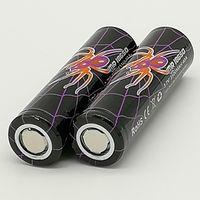 Wholesale 100 High Quality BLACK WIDOW Battery mAh IMR V A E Cig High Drain Rechargable Lithium Batteries Cell