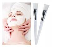 ingrosso pennello utilizza set-Kit pennello maschera facciale caldo Pennelli trucco Occhi Maschere per la cura della pelle Applicatore Cosmetici Casa Maschera per occhi facciale fai da te Strumenti di uso Maniglia trasparente
