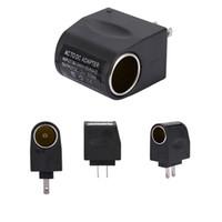 Wholesale 12v dc car lighter plug for sale - Group buy 110 V AC to V DC mA Car Cigarette Lighter Adapter Converter US EU Plug