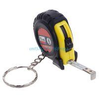 taschenlineal großhandel-Einziehbares Lineal Maßband Schlüsselanhänger Mini Taschenformat Metrisch 1m # H028 #
