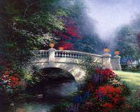 Wholesale bridge life - The Broadwater Bridge Thomashire Thomas Kinkade Oil Paintings Art Wall Modern HD Print On Canvas Home Decoration No Frame