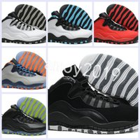 Wholesale Height Increasing Shoes China - 2018 New Men 10 Basketball Shoes Retros Online Superstar China 10s X Sports Canvas Mens Trainers Sneakers Size 41-47