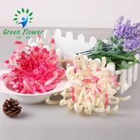 qualität echte berührung blumen großhandel-22 cm hohe Qualität große künstliche Blumen Kopf Chrysantheme Kopf Real Touch Home Dekorationen