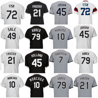 Wholesale wear baseball jersey men - Men Chicago Moncada jersey Anderson Garcia Sale Fisk Abreu Frazier Thomas Baseball Jerseys Wear