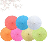 Wholesale umbrella shopping - 2018 Chinese Oilpaper Umbrellas Kindergarten Decorations Shopping Malls Roof Ornament Colorful 60cm Brand Activity Gifts Souvenir