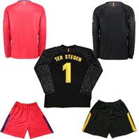 Wholesale boys shirts long sleeves - AAA+ Thai quality 2017 2018O Long Sleeve Goalkeeper jersey Kit 2018 TER STEGEN CILLESSEN 2017 2018 Long Sleeve Goalkeeper Football Shirt