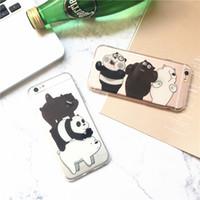 telefon fälle für iphone bär großhandel-Naked Bear Pattern Phone Case Rückseite für iPhone 6 7 8 Plus 6s