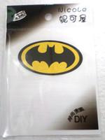 ingrosso patch di ferro di batman-nuovo arrivo! 100pcs Batman Logo Iron-on Sticker DIY Accessorio Patch Transfer T-Shirt Sticker Phone accessorio
