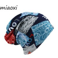 Wholesale Vintage Beanie Hats - miaoxi Direct Fashion Women Vintage Knit Women Scarf Hat 2 Used Winter Warm Casual Patchwork Lady Beanie Girl's Gorros Sale