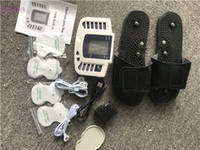 masajeador de pies máquina eléctrica al por mayor-Terapia de Cuidado de la Salud Máquina de Masaje Estimulador de la Acupuntura Gadgets de Salud Relajación Eléctrica Impacto de Pulso Pie de Cuerpo Completo Masajeador