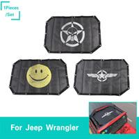 ingrosso accessori loghi per auto-Car Scheletro umano logo Parasole Protezione solare Net Fit Jeep Wrangler JK 2 Porte 2007-2017 Accessori esterni auto di alta qualità