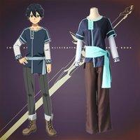 anime kleidung freies verschiffen großhandel-Kirigaya Kazuto Cosplay Kostüme Kindheit Japaner Anime Schwert Art Online Alicization Kleidung Halloween Kostüme Spot Supply kostenloser Versand