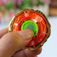 Wholesale Toy Led Gyroscope - Alloy Gyroscope Colorful Spinning Top Lighting LED Battle Luminescence Assemble Scopperil Children Toy New Kid Hot Sale 11 5kb V