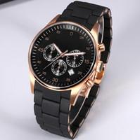 relojes de banda de resina al por mayor-2018 de calidad superior Hombre Reloj militar Resina Banda reloj de pulsera de lujo Casual Marca famosa reloj de cuarzo reloj masculino Deportes de moda Nuevos relojes