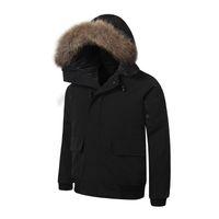 бесплатная доставка dhl куртка оптовых-DHL Бесплатная доставка! Мужская короткая версия Канада мода теплый пуховик 80% утка вниз высокое качество спорта на открытом воздухе EUR размер Parker пальто