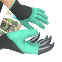 Wholesale plastic thorns resale online - Garden Genie Gloves For Digging Planting Unisex Claws Easy Way To Garden Digging Planting Gloves Waterproof Resistant To Thorns B