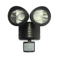 luces de inundación con sensor de movimiento al por mayor-Solar Powered Motion Sensor Light 22 LED Garage Garden patio Outdoor Seguridad Flood Spot Light Lámpara de pared