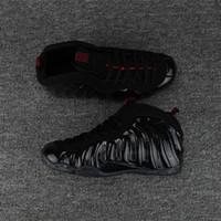sapatos de corrida nylon venda por atacado-2018 novo mens penny hardaway Espuma de Um Preto de Ouro Salpicos de basquete sapatos de alta qualidade menino esportes correndo tênis de grife