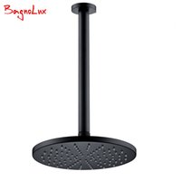 Wholesale ceiling shower arm - Bagnolux Wholesale Factory Direct High Quality Round Classic Style Rainfall Shower Head With Ceiling Mounted G1 2 Shower Arm