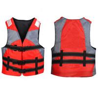 chaqueta de kayak al por mayor-Chaleco salvavidas al aire libre Chaleco de espuma de alta calidad Traje de baño profesional Adultos Niños pesca Surf Kayak supervivencia Deportes acuáticos traje de baño