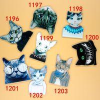 broches de acrílico gato broches al por mayor-Perno de la insignia japonesa del harajuku perno de acrílico lindo de la gente del control de la estrella del maullido del gato