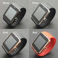 wrist watch mp3 도매-스마트 시계 GT08 SmartWatch 카메라와 함께 블루투스 안드로이드 전화 SIM 카드 MP3 피트니스 방수 스마트 시계 손목 시계