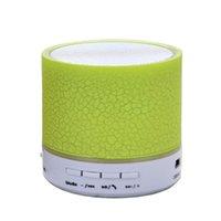 altavoz bluetooth lector usb al por mayor-Nuevo altavoz LED colorido estéreo de alta fidelidad HI-FI Mini Bluetooth para el iPhone, altavoz lector de tarjeta SD de radio FM de gran utilidad