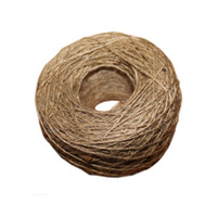 Wholesale acrylic craft - NEW natural jute rope 1mm Soft 100M Natural Textured Hessian Jute Twine Gift box String Rope Floral Craft Wedding Tags Wrap Deco