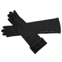 Wholesale long gloves for men - 2018 new 38cm long knit mittens of cotton gloves and high elastic sleeve for the spring and autumn heat preservation