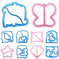 DIY Cartoon Animal Design Sandwich Cutter Bread Biscuits Embossed Device Cake Tools Rice Balls Lunch DIY Mould Tools