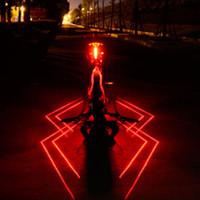 parte traseira da lanterna traseira do laser da bicicleta venda por atacado-USB Recarregável Frente Traseira Bicicleta Luz Aranha Laser LED Bicicleta Lanterna Traseira Capacete de Ciclismo Luz Da Lâmpada de Montagem Acessórios de Bicicleta