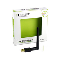 Wholesale High Gain Antennas - EDUP EP-MS1559 Wifi Adapter 300Mbps Wi-fi Dongle 2.4GHz Realtek8192CU Wireless USB Adapters with High Gain 2dbi Antenna