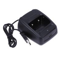 ingrosso caricabatterie per baofeng-Caricabatteria da tavolo per walkie-talkie portatile più recente da 1 litio Caricabatteria per batteria agli ioni di litio 100-240v USB per Baofeng BF-888S Retevis H777