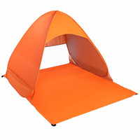 Wholesale parking tents - Wholesale- Outdoor 2-3 Persons Quick Automatic Pop up Instant Portable Cabana Beach Tent Camping Fishing Picnic Shelter for Beach Park XWG