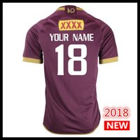 Wholesale Rugby Names - Custom names and numbers Jersey 2018 MENS MAROONS JERSEY QLD Maroons rugby Jerseys Australia National Rugby League shirt