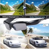 Wholesale sport mp3 player retail online - 2018 hot Sunglasses Bluetooth Headset Wireless Sports Headphones Sunglass Stereo Handsfree Earphones mp3 Music Player With Retail Package