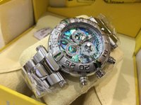 Wholesale invicta watch online - New INVICTA IN STOCK sales rose gold Men s Pro Diver SS Speedway aaa luxury mens watches Chronograph rubber Steel Watch designer watch