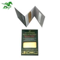 etiquetas anti radiação do telefone móvel venda por atacado-Adesivo anti-radiação de metal dourado de energia escalar bio para celular