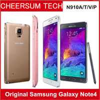 Wholesale android cell phone 5.7 resale online - Refurbished Samsung Note N910A N910T N910V N910P Cell Phone MP Camera GB RAM GB ROM G G Touch Smartphone