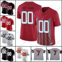 jerseys del balompié de la universidad del ncaa al por mayor-Custom 2018 NCAA Ohio State Buckeyes OSU camisetas de fútbol americano universitario 7 Dwayne Haskins Jr. 2 JK Dobbins 97 BOSA 15 Elliott
