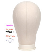 "Wholesale Head Stands For Wigs - 21"" 22"" 23"" 24"" 25"" Canvas Block Head Wig Stand Mannequin Head For Hair Extension Weft Wig Making Styling Display For Salon Common Use"