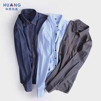 1e321202353 2018 Autumn Jeans Shirt Men Blouse Slim Fit Vintage Style Chambray Shirt  Male Long Sleeve Cotton Denim Shirts Casual Man Jeans Shirts nz589